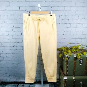 Free People Work It Out Drawstring Joggers Yllw L